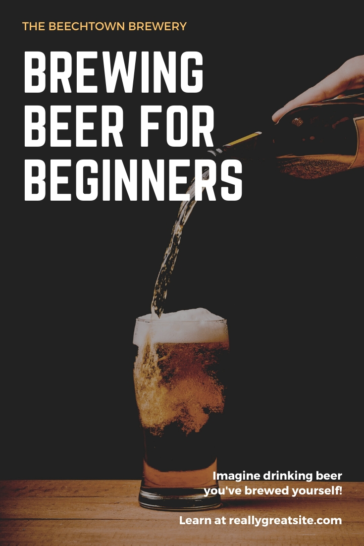 White Text Overlay Beer Brewing Guide Pinterest Graphic (1)